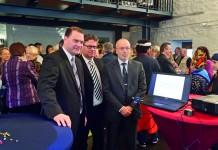 Bürgermeister Michael Adam. CDU-Fraktionsvorsitzender Jochen Wagner und Verfassungsschutzchef Dr. Helmut Albert