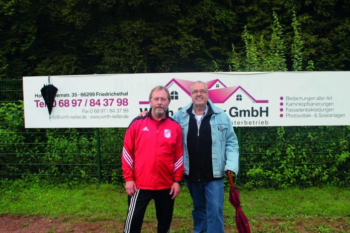 Trainer Raimund Schirra und Vereinschef Klaus Hubig