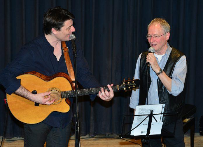 Laurent Berger und Wolfgang Winkler am 8.4.2016 im Salzbrunnenhaus. Foto: Peter Diersch