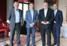 Die neue Führungsriege des FCS: Dieter Ferner, Vize-Präsident, Markus Mann, Sportdirektor, Hartmut Ostermann, Präsident, David Fischer, Geschäftsführer