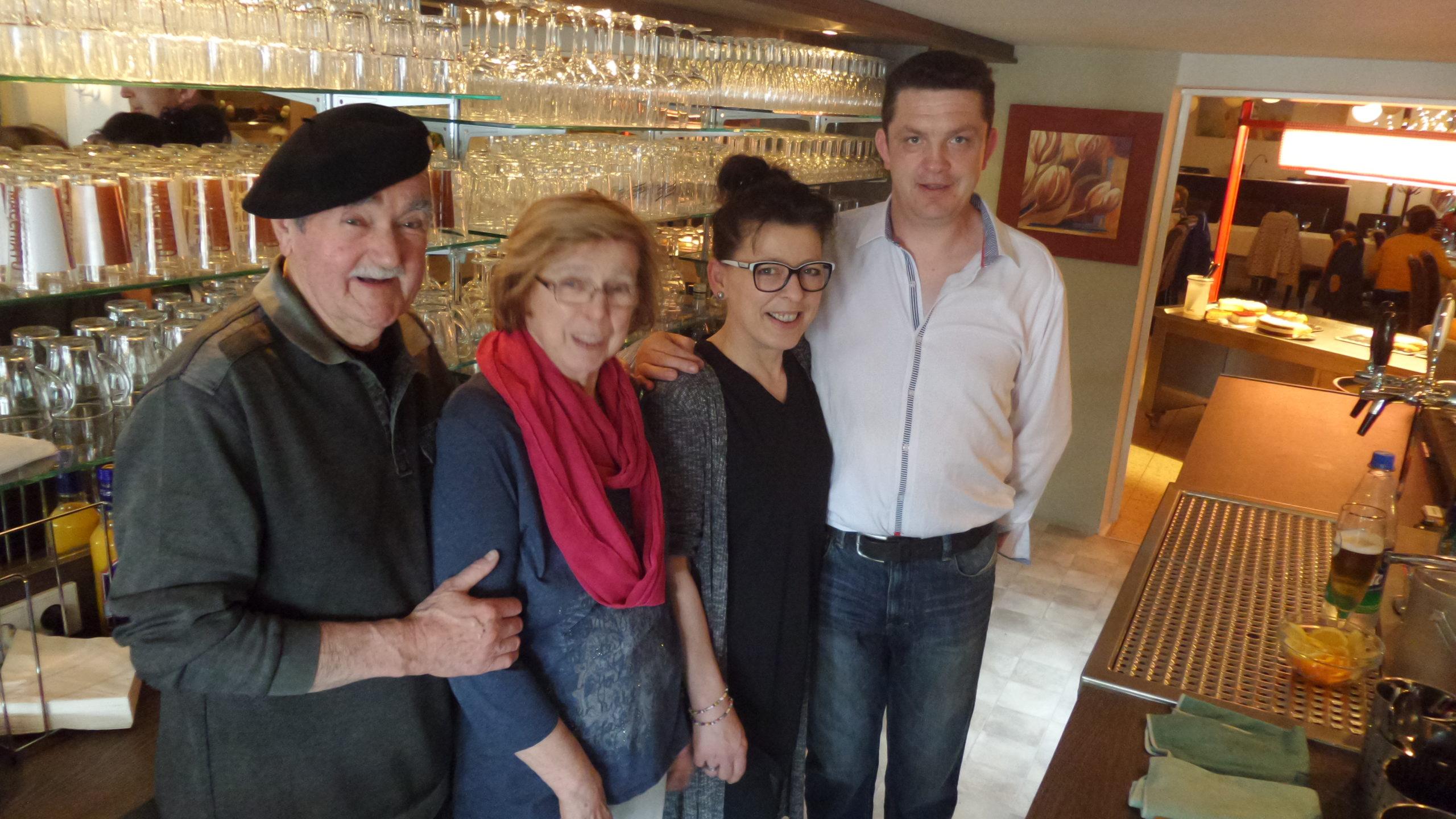 Otto und Lilli Thomé, Brigitte Herrmann und Ihr Lebensgefährte Didier Burger.