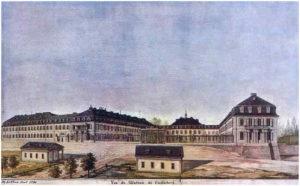 Schloss Karlsberg in Homburg 1793 komplett zerstört von den Franzosen und nicht wieder aufgebaut