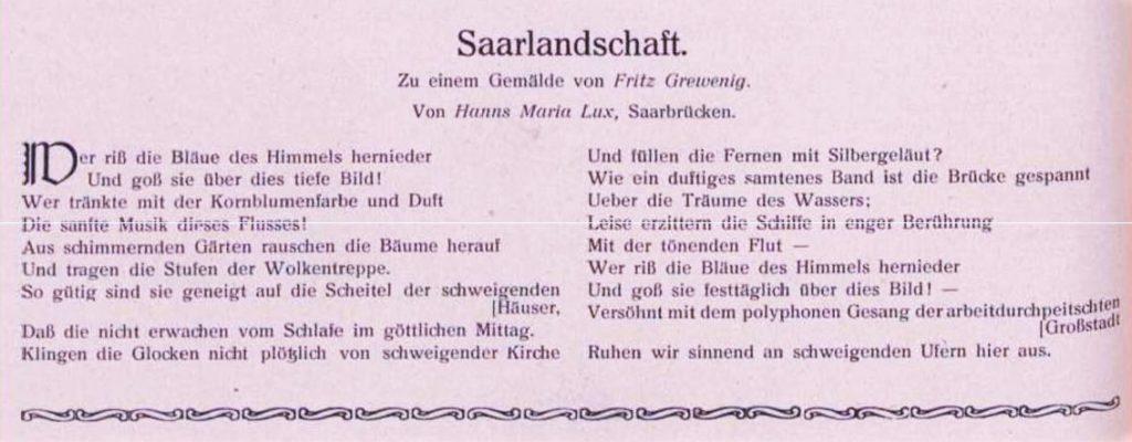 Diese Beschreibung in Gedichtform aus dem Anfang des vorigen Jahrhunderts könnte man auch auf das Bild von der Friedrich Heinrich Brücke beziehen.