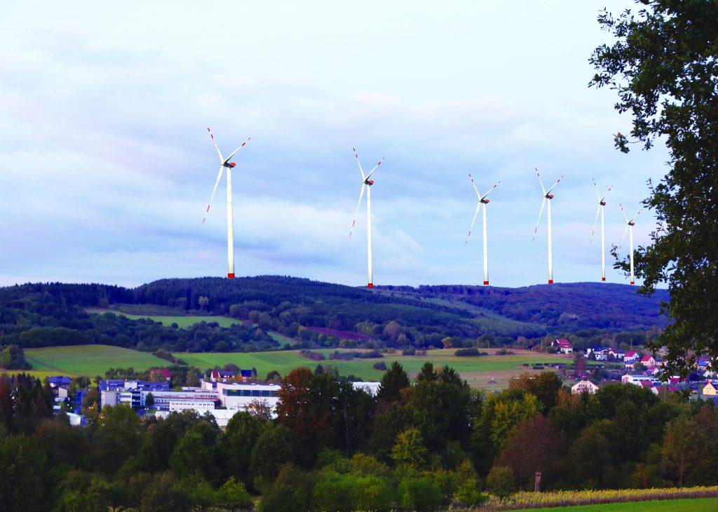 Simulation der Änderung des Landschaftsbildes Wadern Lockweiler durch den Windpark Wenzelstein