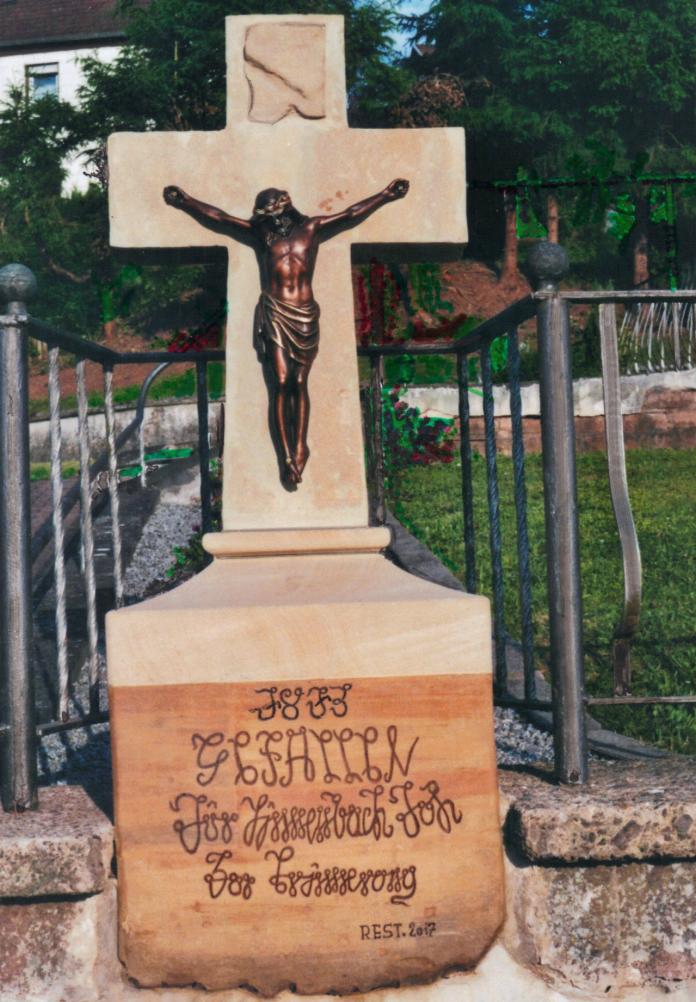 Bachmanns Kreuz nach der Restaurierung