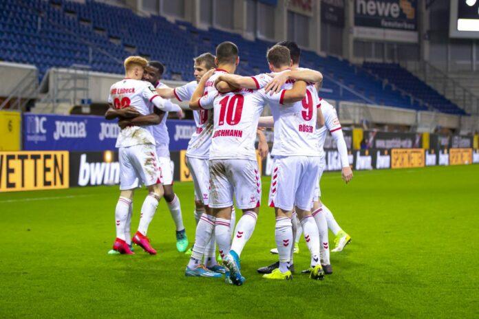 VfB Lübeck bejubelt 2:1 beim SC Verl