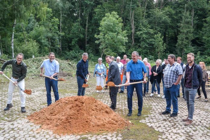 Spatenstich zur interkommunalen Grüngut Sammelstelle Sulzbach und Quierschied